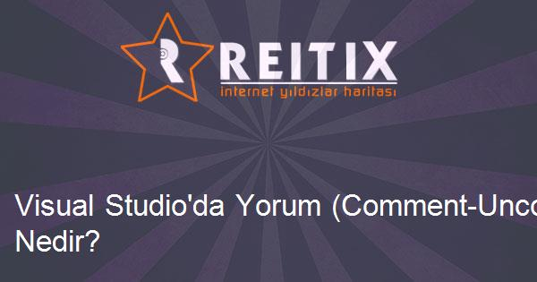 Visual Studio'da Yorum (Comment-Uncomment) Kısayolu Nedir?