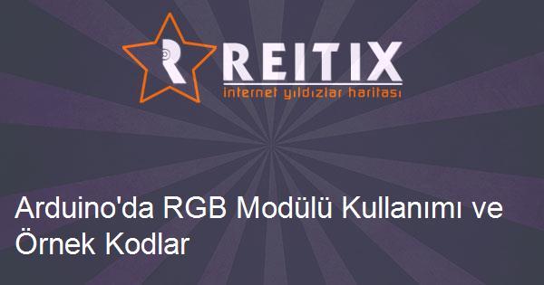 Arduino'da RGB Modülü Kullanımı ve Örnek Kodlar