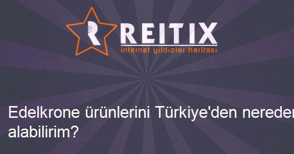 Edelkrone ürünlerini Türkiye'den nereden satın alabilirim?