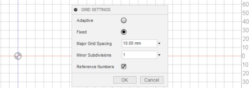 fusion 360 grid settings