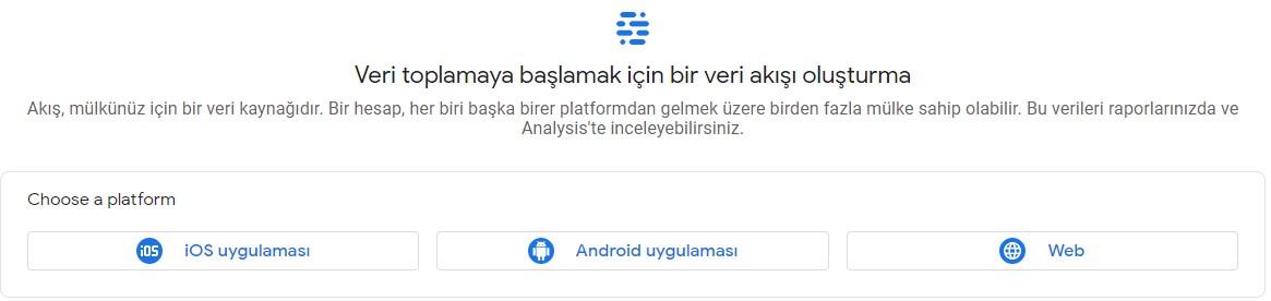 google analytics choose a platform