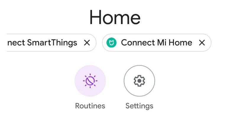 google home connect mi home