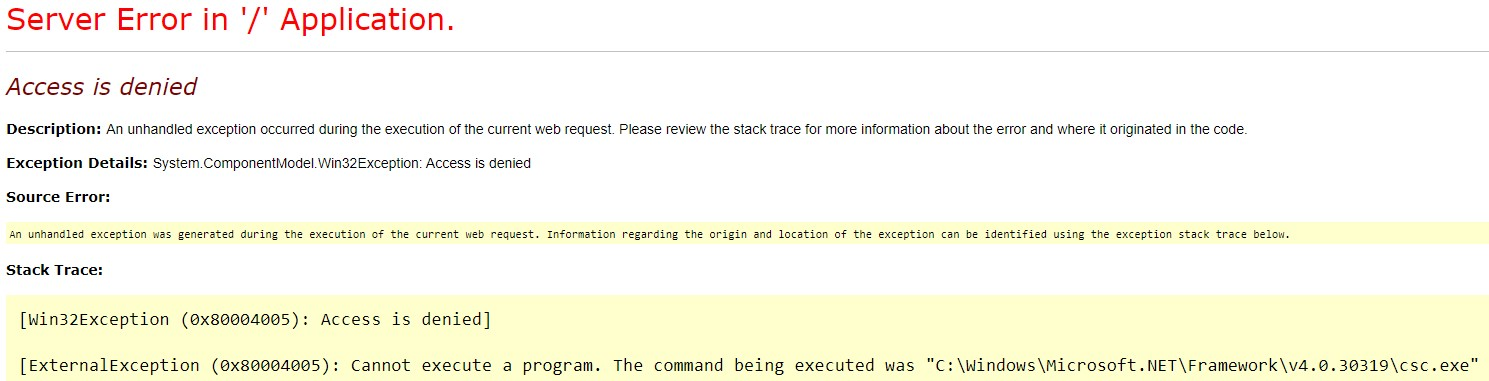 iis access is denied