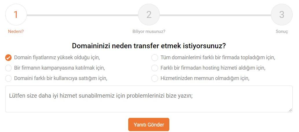 isimtescil domain transfer nedeni