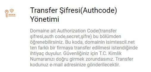 isimtescil transfer şifresi
