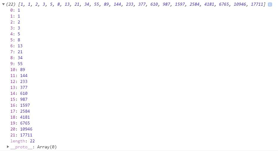javascript fibonacci