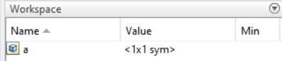 matlab sym workspace