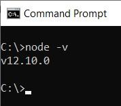 node.js versiyon