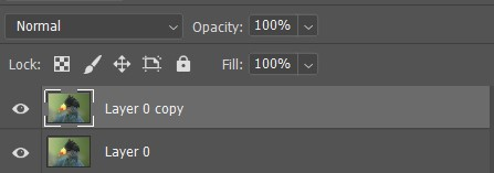 photoshop duplicate layer