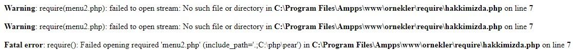 php require error