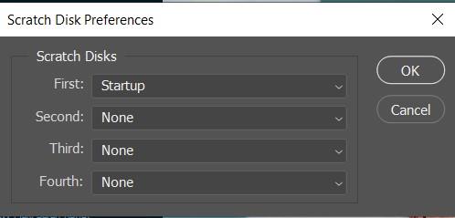 scratch disk preferences photoshop