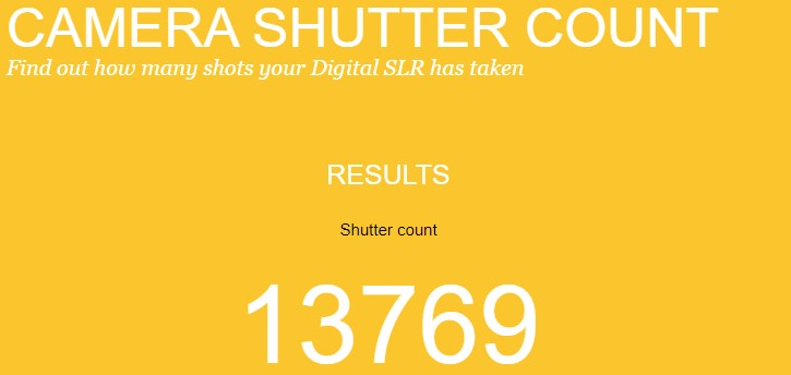 shutter count online