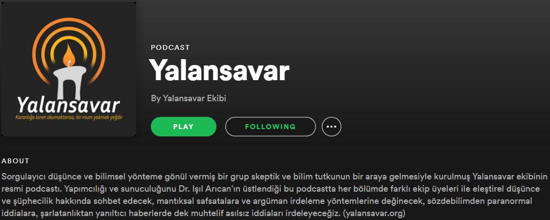 spotify yalansavar podcast