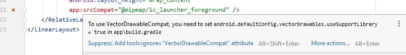 vectordrawableCompat error